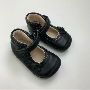 Clarks First Shoes Harper Black Mary Janes size 19